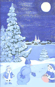 зимовий малюнок